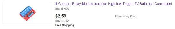 ebay 4 relay module 5v