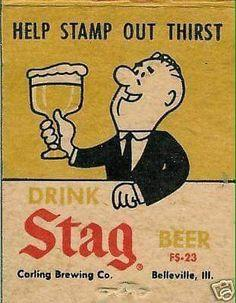 5f3c4925984ac8eaef6b6d465c6c740c--stag-beer-old-ads