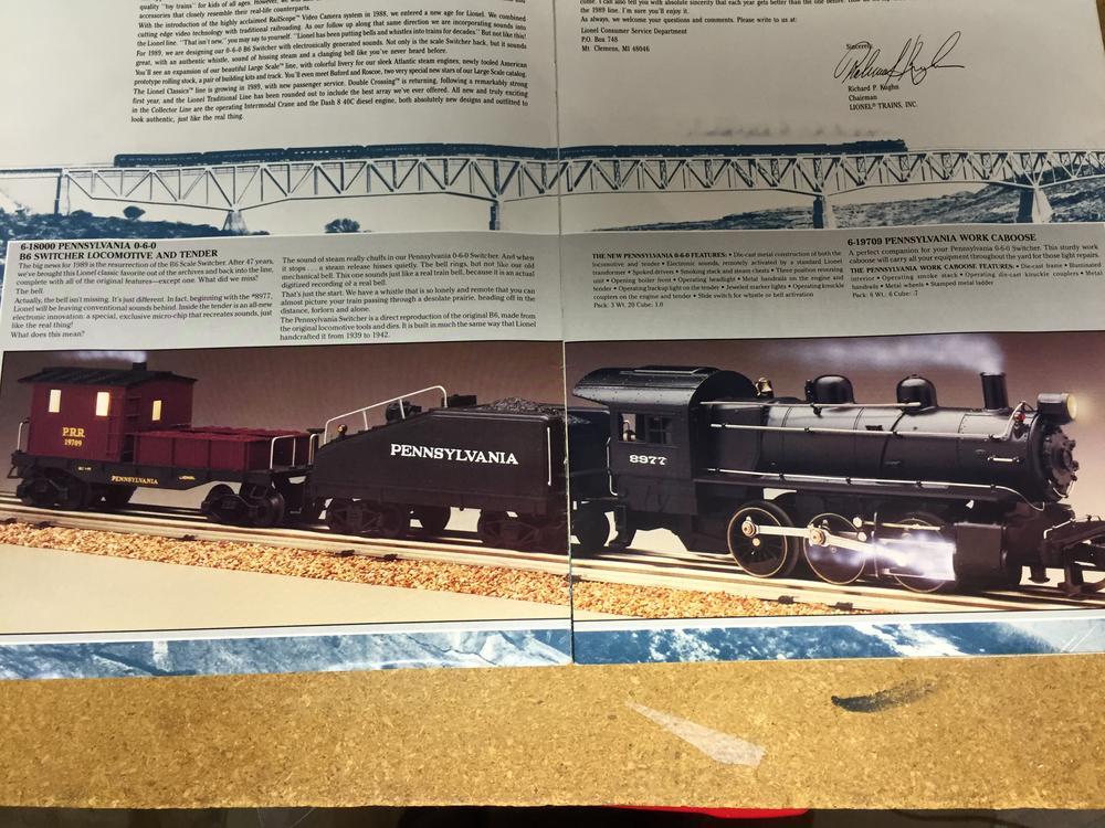 1989 LIONEL TRAIN LARGE SCALE TOY FAIR CATALOG MINT