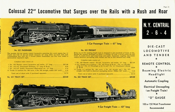 American Flyer Trains 1939, page 23 [1)