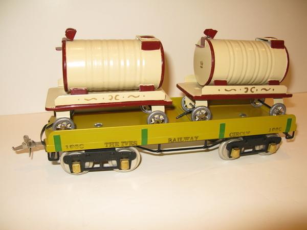 Osisek Shops Ives Circus Train Water Wagons Flatcar 001