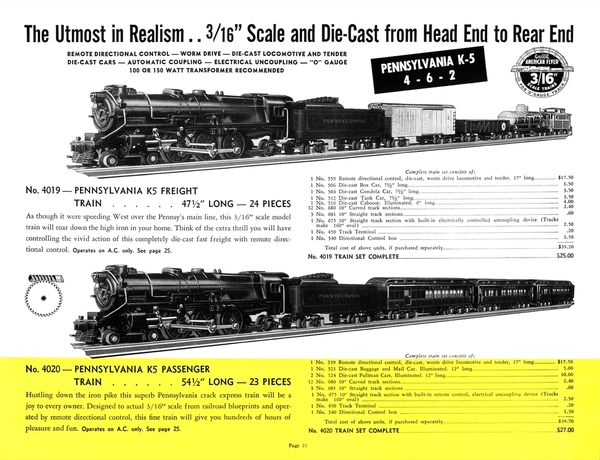 American Flyer Trains 1940, page 21