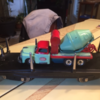 mceclip0: Cement mixer on flat car