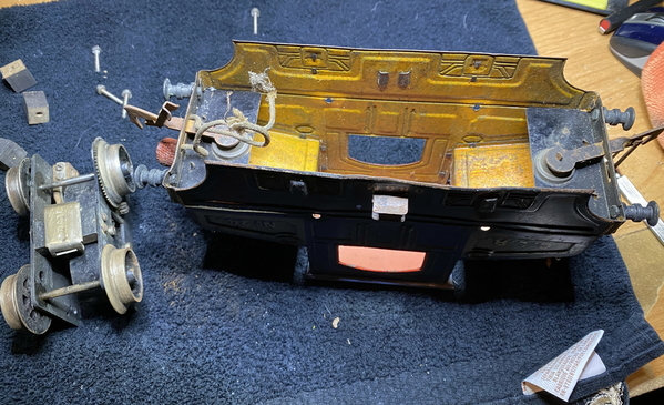 Bing 210-2560 CLR 24 motor removed