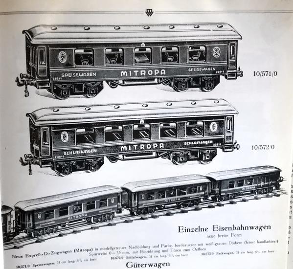 Bing Mitropa cars 1927