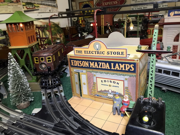 Edison Mazda Lamps cardboard building 2