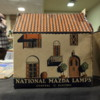 GE Mazda Lamps cardboard building at toy show