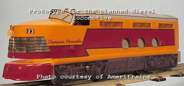 Ameritrains Olympian Hiawatha streamliner