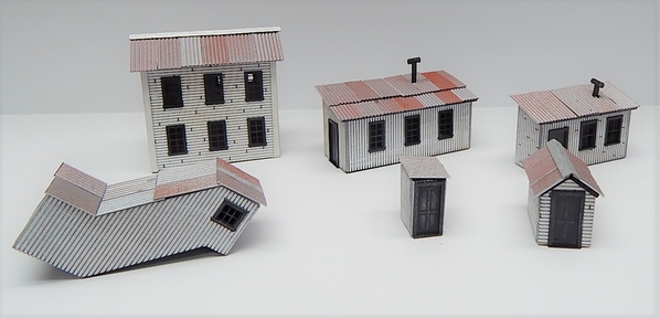 O scale Factory Out Buildings F