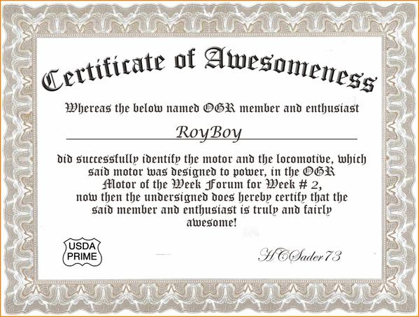 Certif of Awesomeness Week 2 RoyBoy