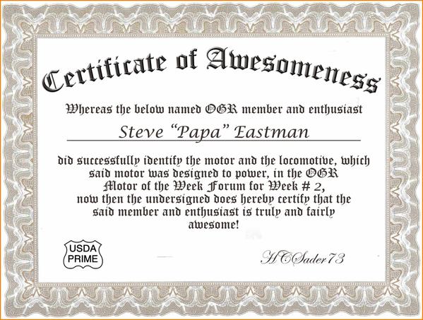 Certif of Awesomeness Week 2 Steve