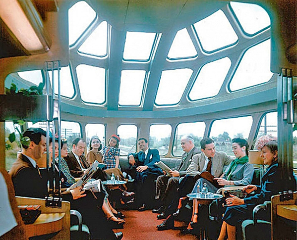 MR Skytop Observation Car - View from Inside