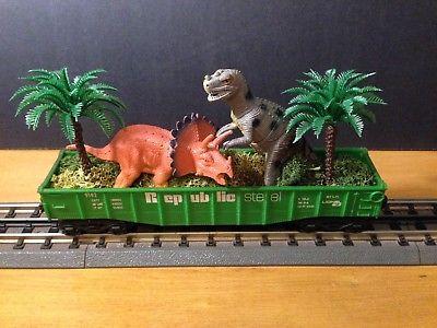 Lionel-Custom-Dinosaur-Model-Train-Car-Scratch