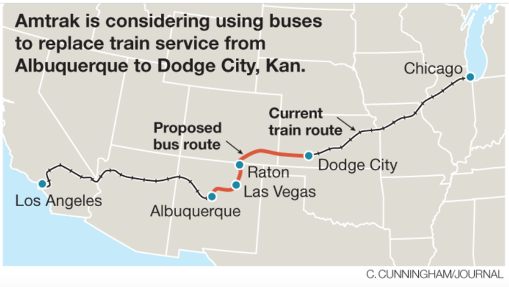 Map Of California Zephyr Route.Amtrak May Use Buses For Part Of La Chicago Trip Now The