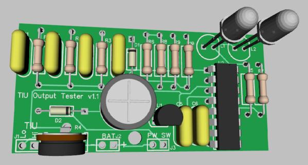 TIU Signal Tester Rev. 1.1 3D View