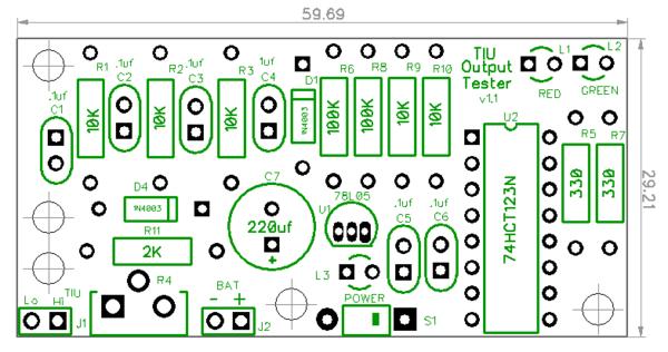TIU Signal Tester Rev. 1.1 PCB