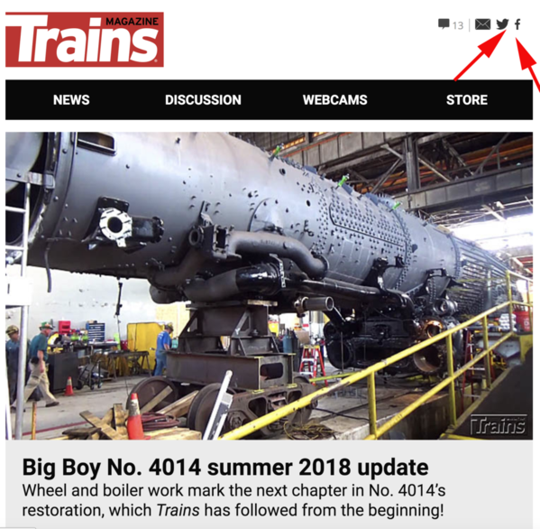 1 Trains Mag UP 4014 Update