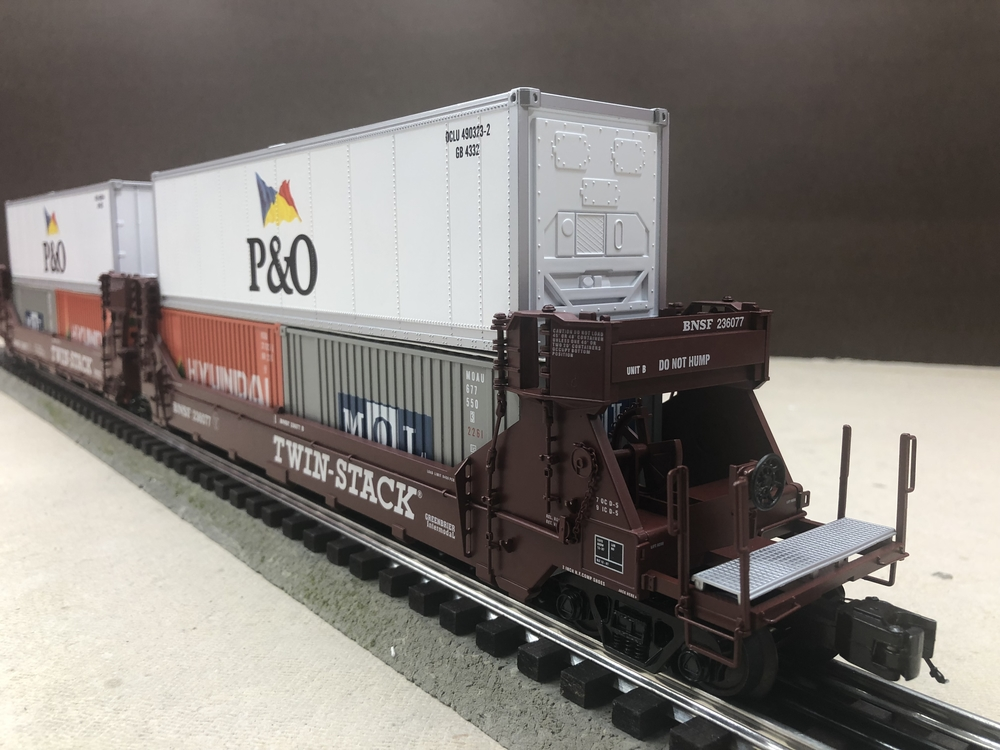 fs mth premier ttx dttx bnsf five car twin stack sets. Black Bedroom Furniture Sets. Home Design Ideas