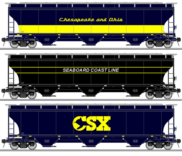 CSX Heritage Hoppers Set 4