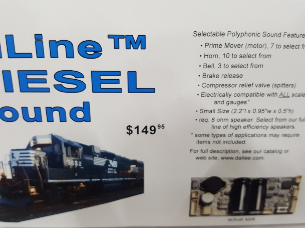 Anyone Use A Dallee Sound Board (Diesel or Steam) In An O
