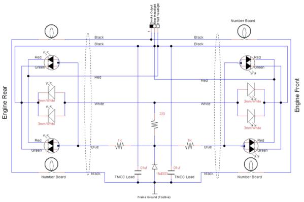 Directional bi-color Markers, Headlights & Number Boards