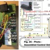 v668-fig2c-photo: Photo of detector-relay unit, and wiring diagram