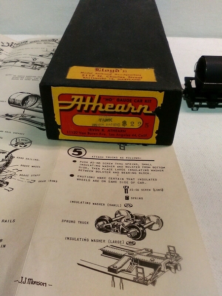 Athearn 225 UP tank black box
