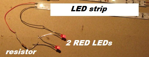 2 red leds plus a resistor