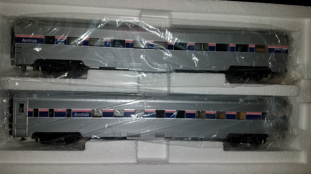 Amtrak Phase IV by MTH / 7 passenger cars / power & dummy