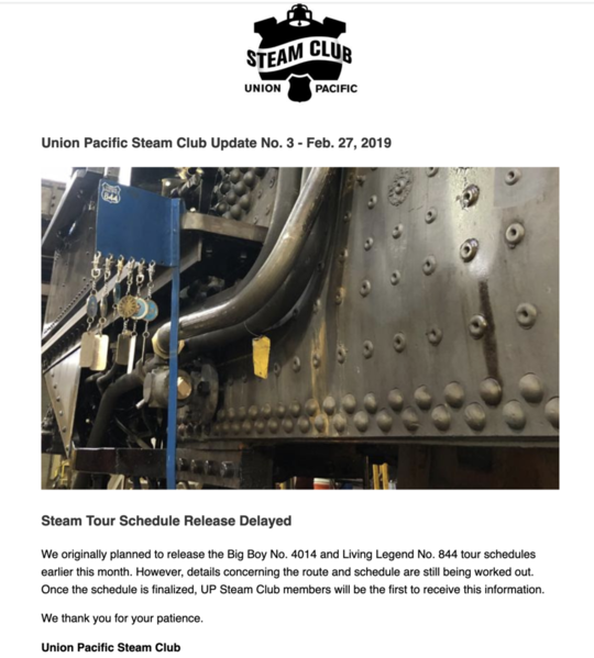 UP Steam Club Feb 27 2019