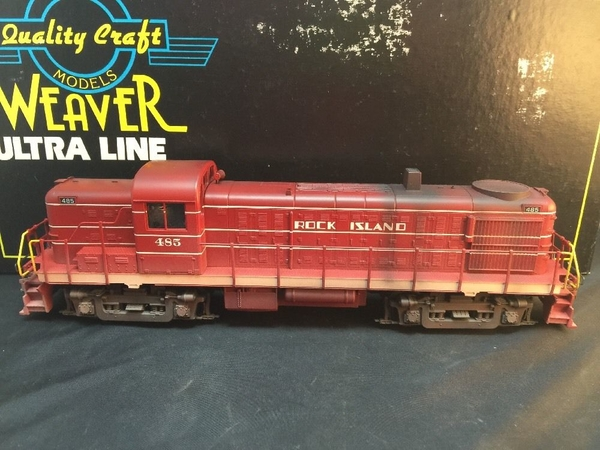 Weaver U5555-LP RI # 485 Factory Custom-Weathered RS-3 with TMCC, RS & EOB [459 list with weathering) Actual Photo1