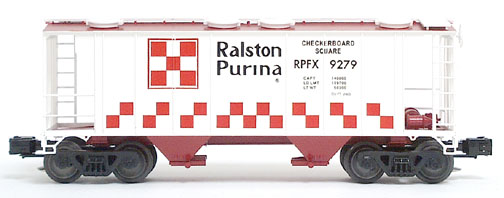 RALSTON PS-2 COVERED HOPPER RED AND WHITE