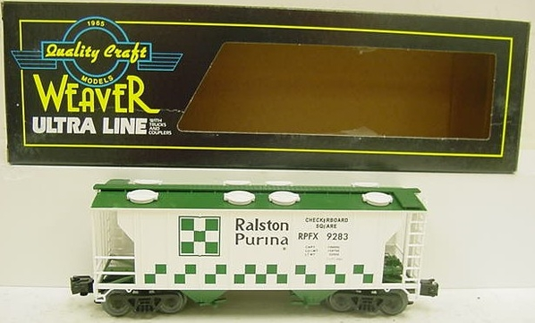 RALSTON PURINA GREEN AND WHITE HOPPER - Copy