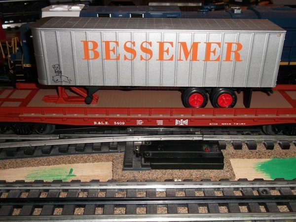 Weaver CR001-LD B&LE # 5409 50' Flat & Bessemer 35' Trailer [AM Hobbies Custom Run of 50, 66&95 list) ACTUAL PHOTO1