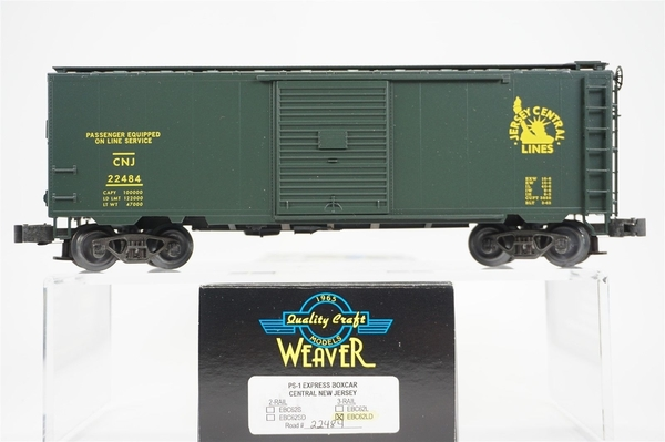 Weaver EBC62-LD CNJ # 22484 Express Boxcar, LNIB - Actual Photo1