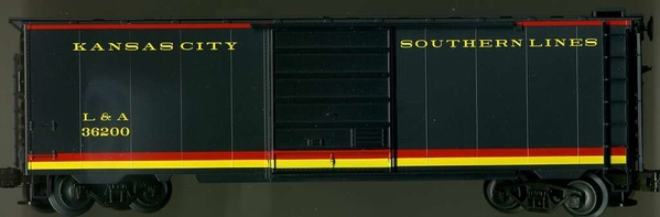 Weaver EBC68 KANSAS CITY SOUTHERN PS-1 Express Box Car # 36001 [# 36200 pictured) - 25 on sale at Justrains, Newark