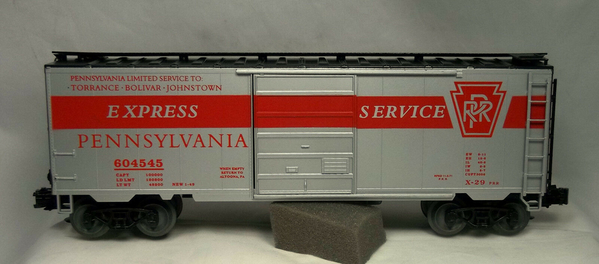 Weaver PRR # 604545 [Silver) GG1 Express Service Boxcar, LNIB - Actual Photo