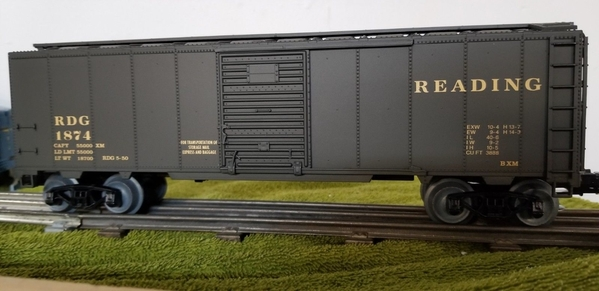 Weaver Reading # 1874 Mail Express & Baggage car, Pullman Green [McDonald) Actual Photo4