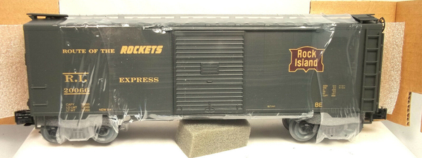 Weaver RI # 20066 `Route of the Rockets' [Olive) Express Boxcar, NIB - Actual Photo1