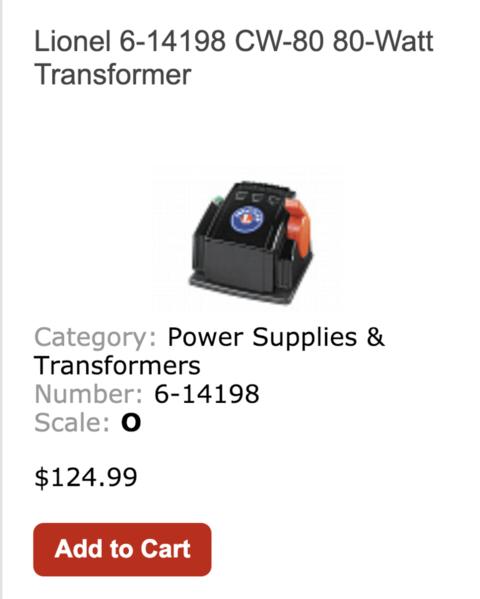 1 Lionel Transformer