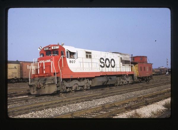 SOO LINE 807 U30C Chicago 10 23 1968