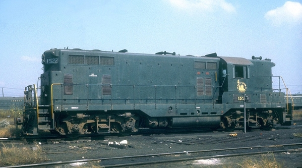 CNJ GP7 #1522 Solid Green-Side View