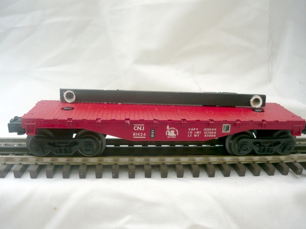 CNJ 027 Flat Car showing trailer mount