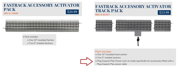 fastrack activator sections