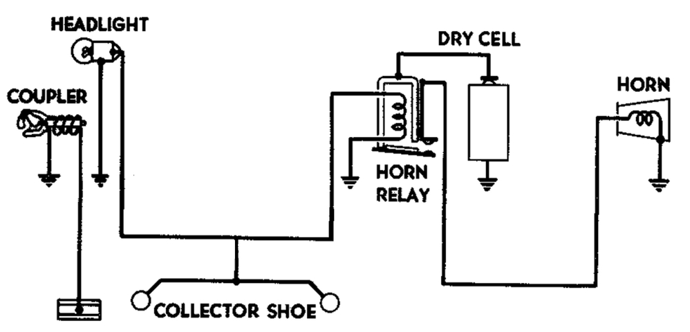 Lionel 2353 Horn Schematic Diagram