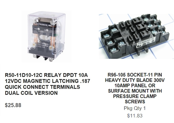 nte r50 relay and socket