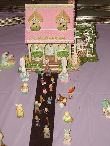 z - Easter - ceramic house closup