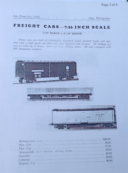 1935 cat page box car