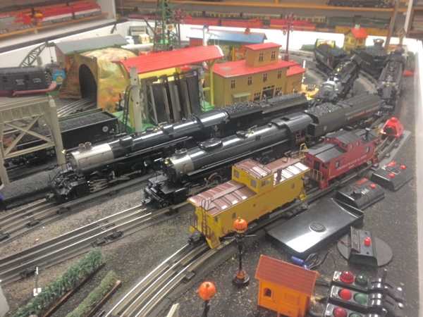 Right of Way Locos AERIAL ON LAYOUT