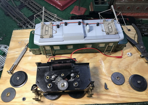 Zeuke electric loco disassembled 2